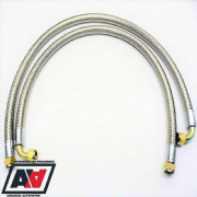Mocal Oil Cooler 45 inch Braided Lines 1/2 BSP Fittings
